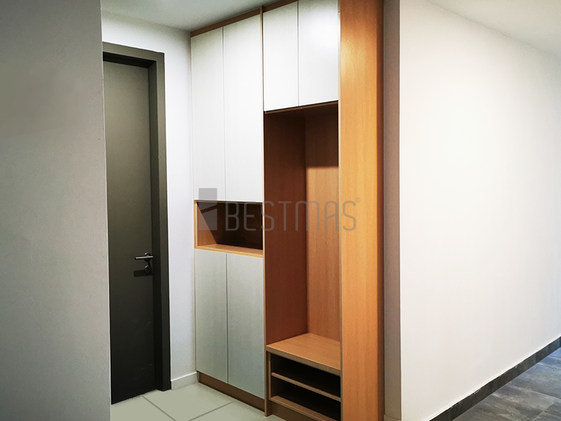 Foyer with Full Height Shoe Cabinet design