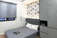 Bedroom 2 with Queen Size Bedset and Swing Door Wardrobe design
