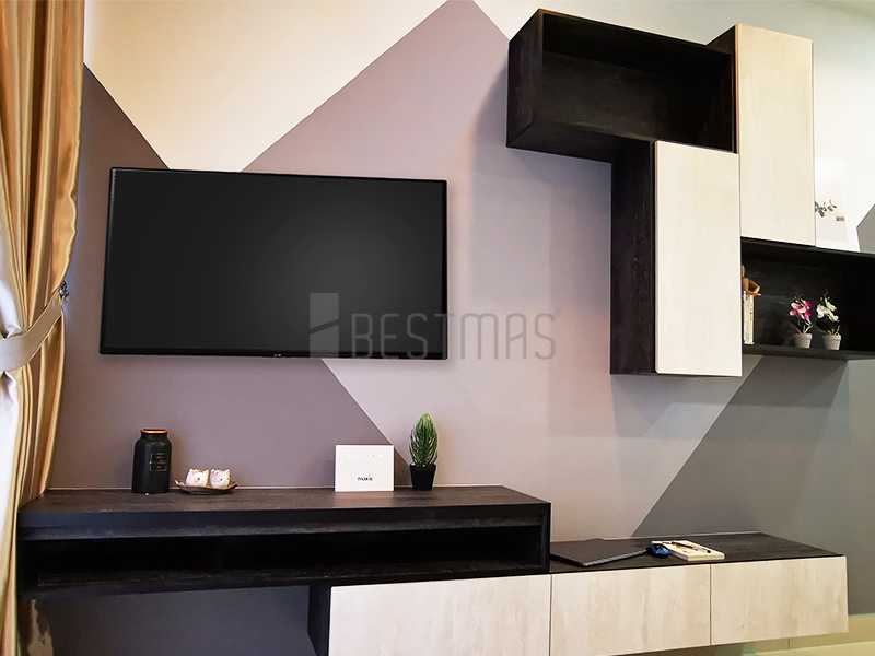 Living Room with TV Console design