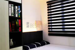 Bedroom 1 with Queen Size Bedset and Swing Door Wardrobe design 2