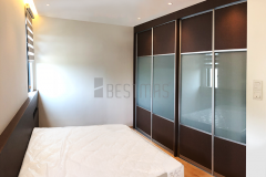 Master Bedroom with King Size Bedset and Antijump Sliding Door Wardrobe design