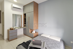 9.-Master-Bedroom-with-Shelves-Swing-Door-Wardrobe-Design