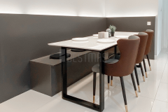 5.-Dining-room-with-Metal-Stand-Quartz-Stone-Dining-Table