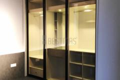 Master Bedroom with Tatami Bed and Antijump Sliding Door Wardrobe design