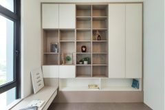 Bedroom 2 with Bookshelf, Studytable and Tatami Bed design #