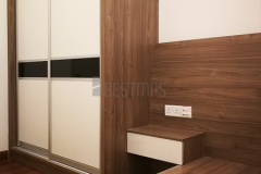 Bedroom 2 with Tatami Bed and Antijump Sliding Door Wardrobe design