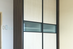 Classic sliding wardrobe design with black frame available in Bestmas Furniture Design only
