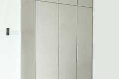 Simple swing door wardrobe design clean & Sleek