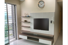 Tv console in living hall cabinet design simple & easy